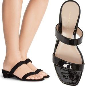 820e2f93d96e Stuart Weitzman Shoes - STUART WEITZMAN Ava Patent Leather Slingback Slide